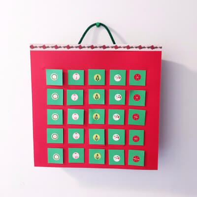 DIY Egg Carton Advent Calendar