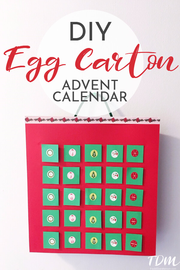 Check out these easy plans to make a DIY egg carton advent calendar! Just a few simple supplies required! Fill with your preferred treats! This is perfect for a child with food allergies! Decide which treats you would want to place inside the calendar!