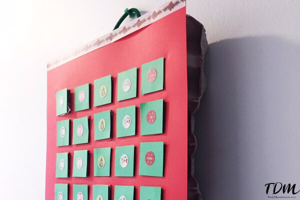 DIY egg carton advent calendar.