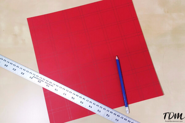 Measure out and draw the lines for your calendar.