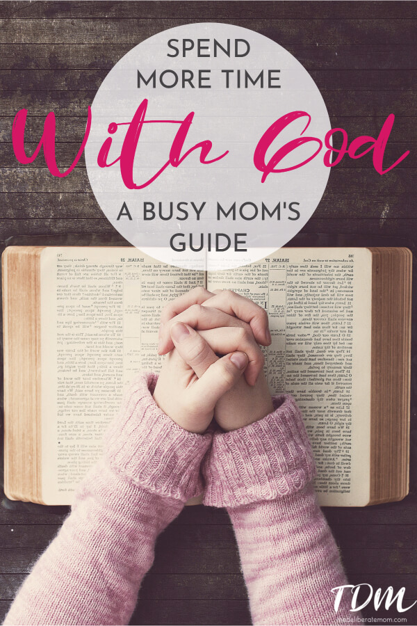 Are you a busy, frazzled, mom? Do you wish you could spend more time with God but you're not sure how? Between diaper changes, laundry to be folded and dishes to wash, there are ways to spend more time with God! Check out these 6 tips to spend with God every day!