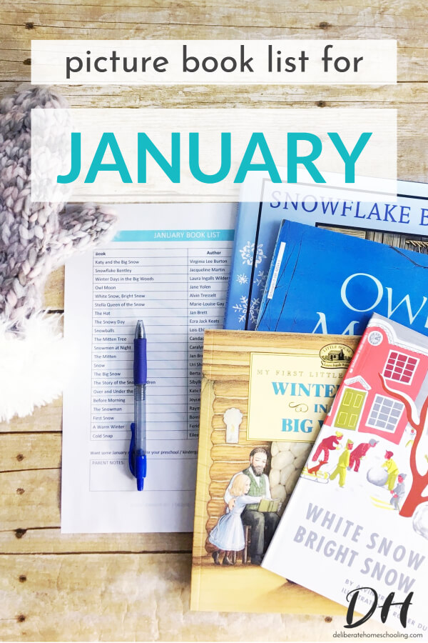 Picture books are a significant part of our homeschool curriculum. Books are a wonderful way to teach children and introduce new concepts. Here is our January picture books list.