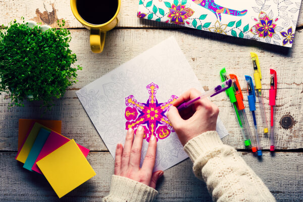 A great date night idea! Coloring with your husband!