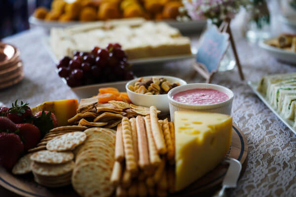 A wine and appetizer picnic is a wonderful idea for an at-home date night with your husband!