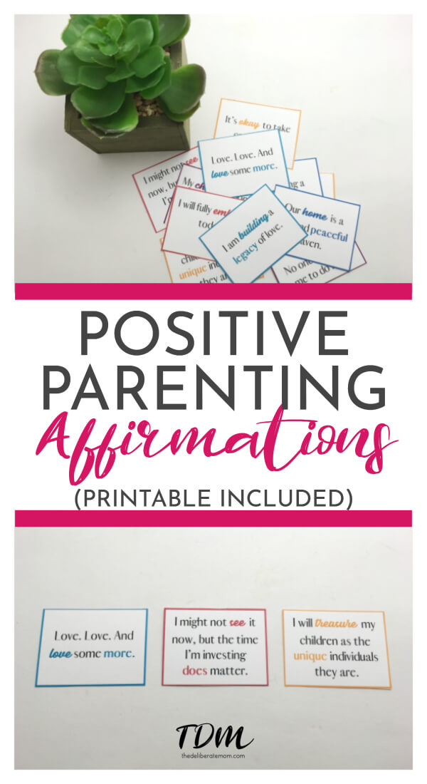 A wonderful way to stay focused on your goal of being a positive parent, is to have a handful of affirmations to encourage and bolster your confidence when you're feeling worn down. Here are 15 positive parenting affirmations for moms! These affirmations were collected to encourage you, even on the roughest of days. #positiveparenting #parentingaffirmations #affirmationsformoms