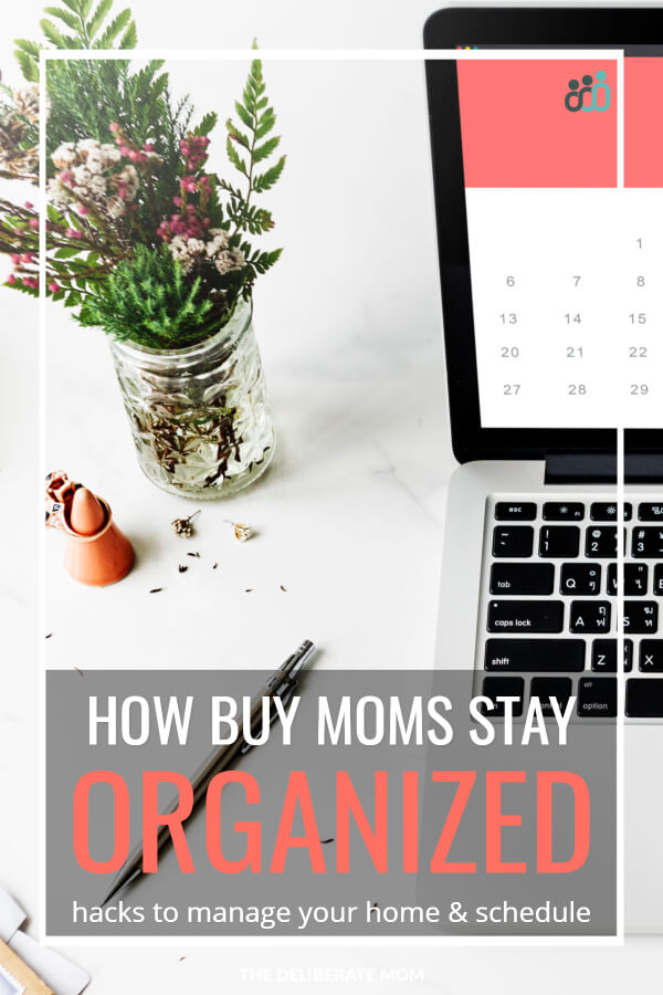"One of the biggest challenges of moms is trying to ""do it all"". Time management and scheduling is often an obstacle and it becomes trickier with the more children you have. Here are some tips, tricks, and hacks for how busy moms stay organized."