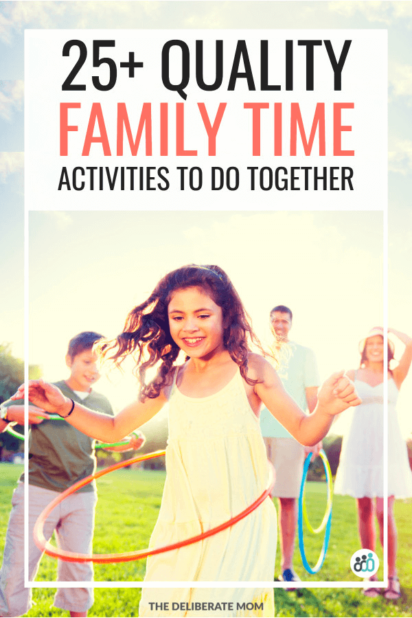 Quality family time activity ideas