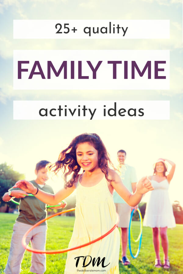 Does your family regularly enjoy quality family time? Come find out why family time is important, how to create a habit of regular family time, and get ideas for over 25 family time activities! All of these family time ideas are screen free and simple to plan.