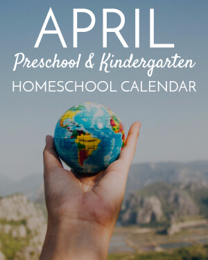April Preschool/Kindergarten Calendar