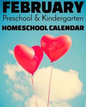 February Preschool/Kindergarten Calendar