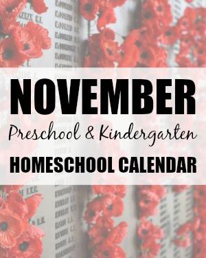 November Preschool/Kindergarten Planning