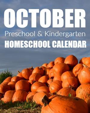 October Preschool/Kindergarten Planning