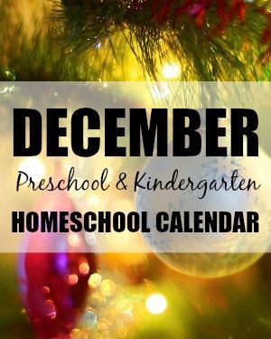 December Preschool/Kindergarten Planning