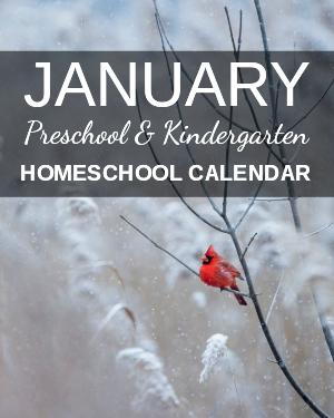 January Preschool/Kindergarten Calendar