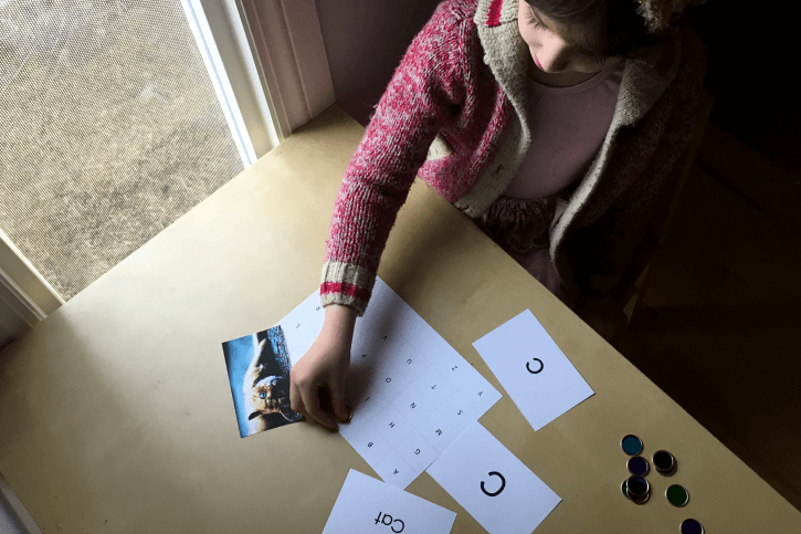 Matching activity for the deluxe alphabet cards!