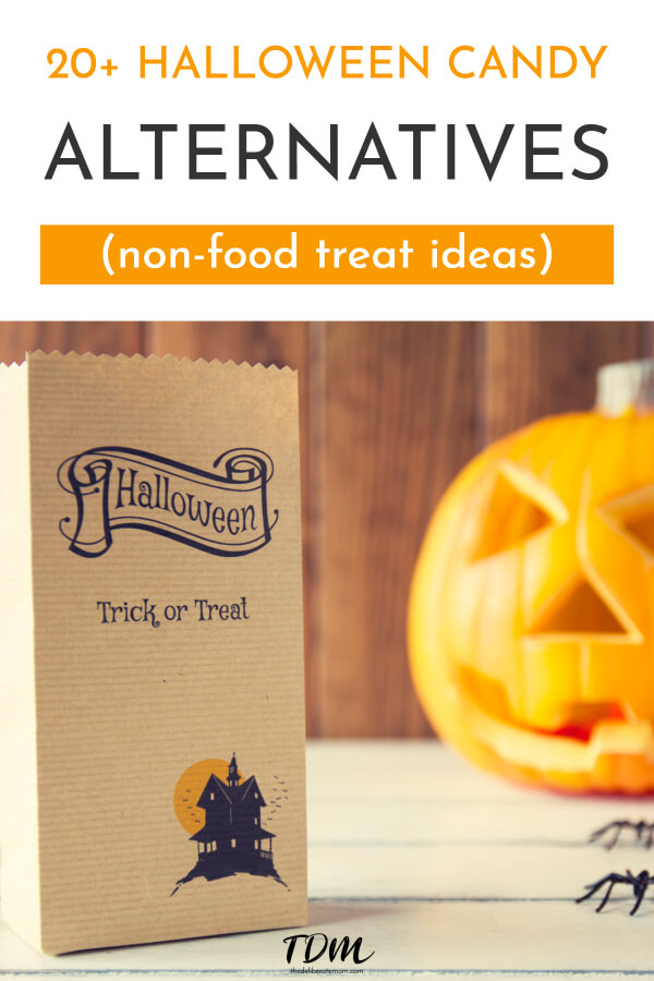 Does your child have food allergies? Perhaps you don't like your kids to eat too much junk food? Check out these Halloween candy alternatives! Over 20 ideas that don't involve food!