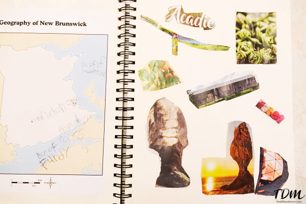 Collage activity for homeschoolers - New Brunswick Unit Study
