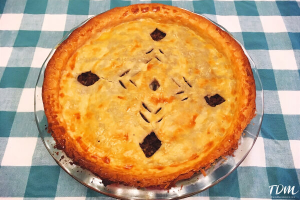Our Quebec unit study included tourtiere - French Meat Pie