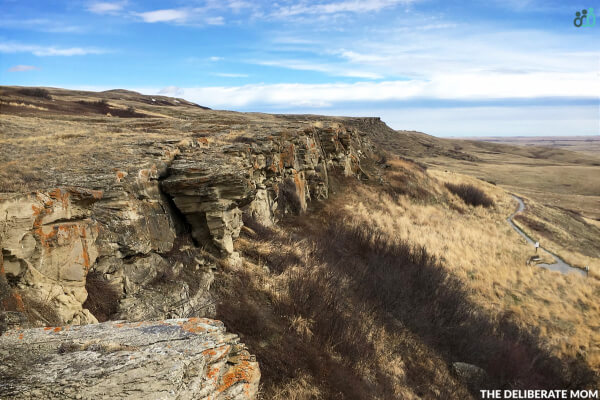 Our homeschool Alberta Unit Study involved visiting the Head-Smashed-In Buffalo Jump outside of Fort Macleod, Alberta.